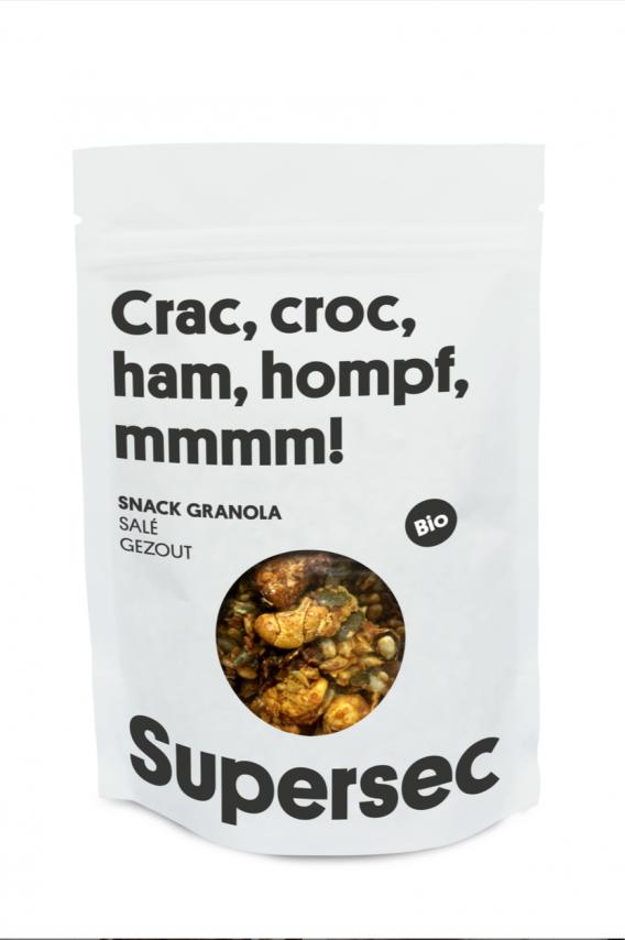 Snack Granola salé bio de Supersec, parfait pour un apéro entre amis !