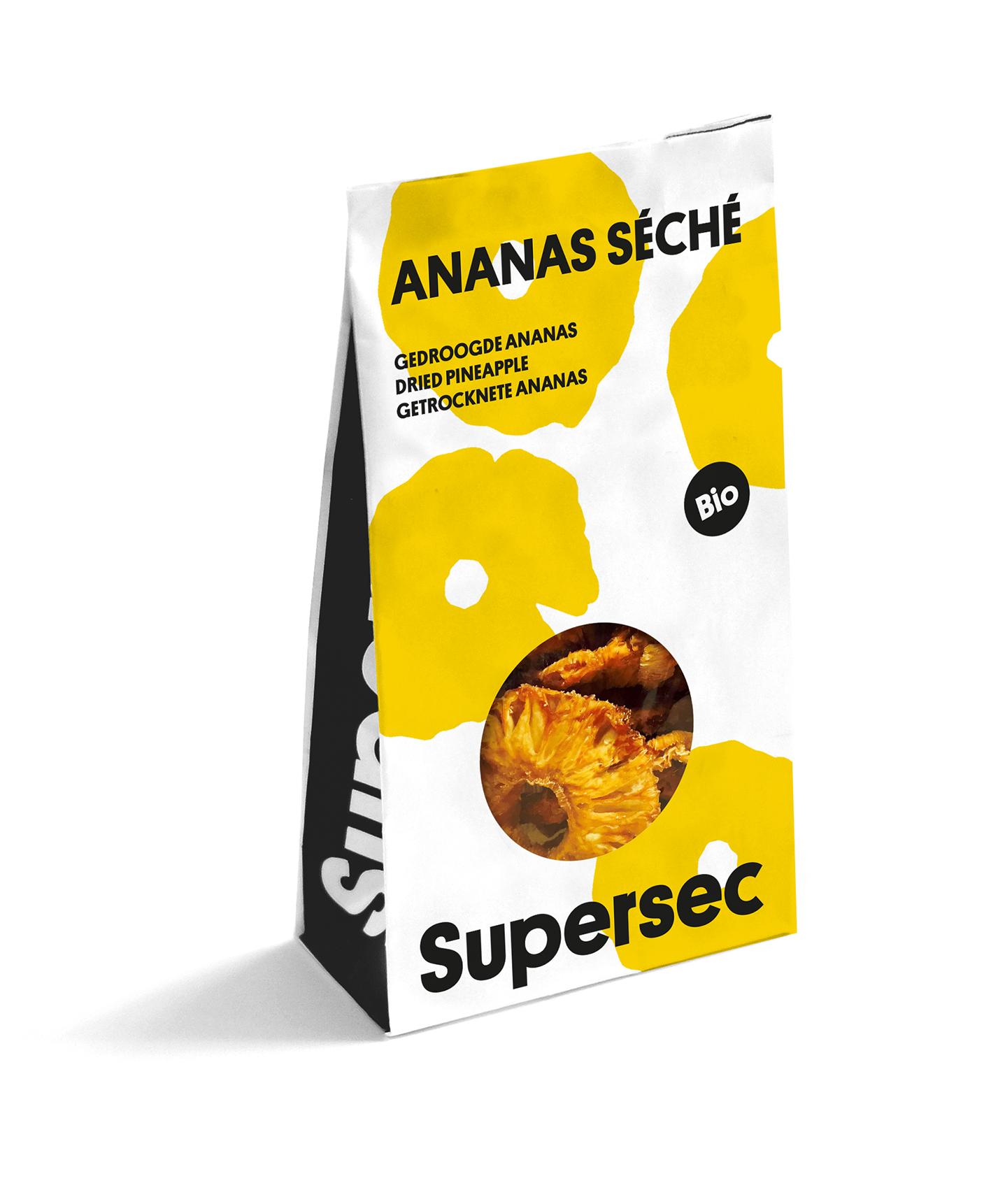 Sachet Dry Fruits Ananas bio séché de Supersec