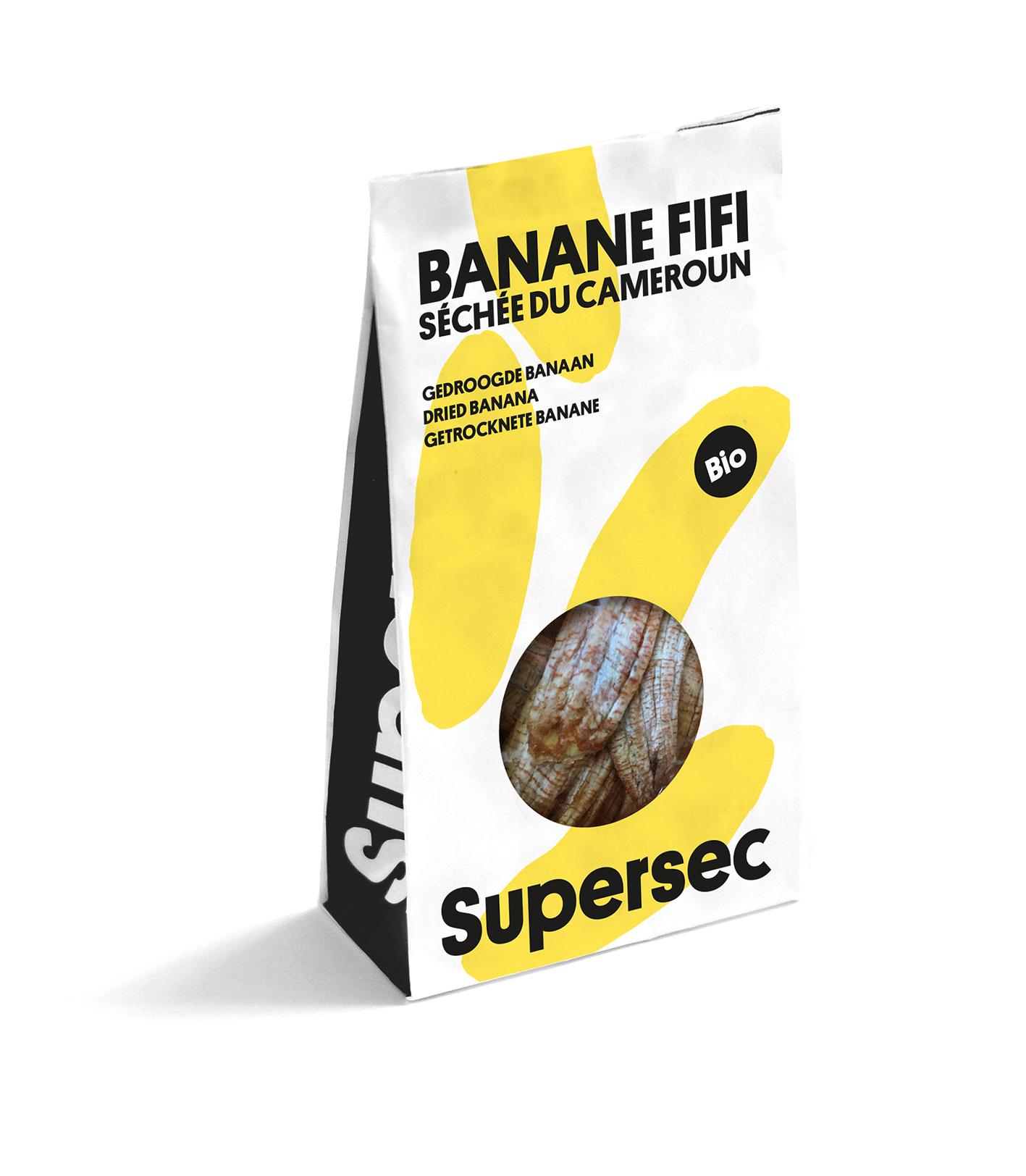 Poche de Dry Fruits Banane bio séchée de Supersec