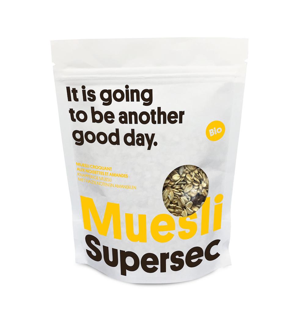 Muesli Muesli croquant aux noisettes et amandes bio de Supersec