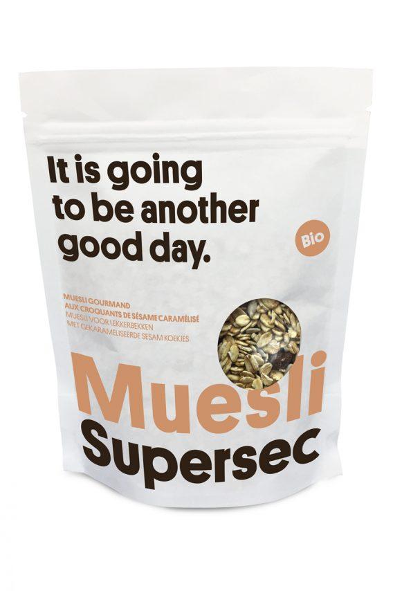 Muesli Muesli gourmand aux croquants de sésame caramélisé bio de Supersec