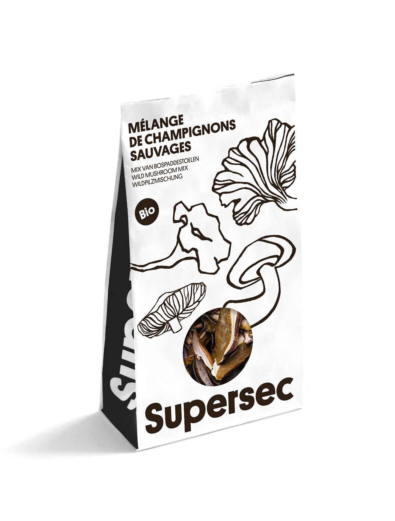 Girolle, l'un des champignons séchés bio de Supersec