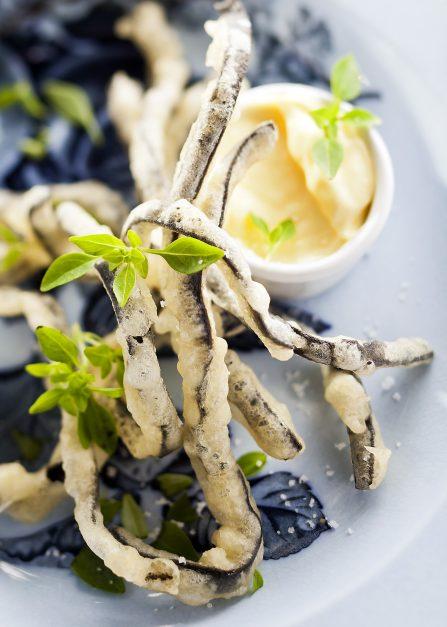 Beignets de haricots de mer, une recette de Supersec par Philippe Emanuelli