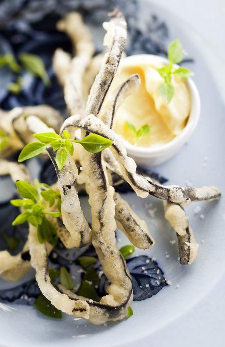 Beignets de haricots de mer et mayo, une recette de Supersec par Philippe Emanuelli