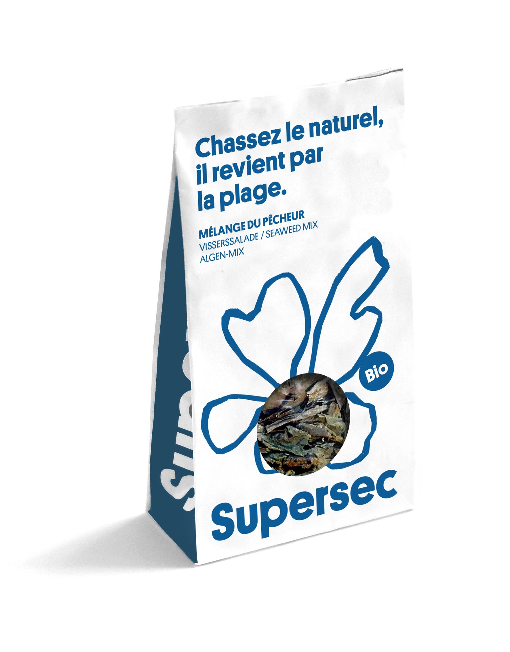 mélange du pécheur, un mélange d'algues bio séchée par Supersec