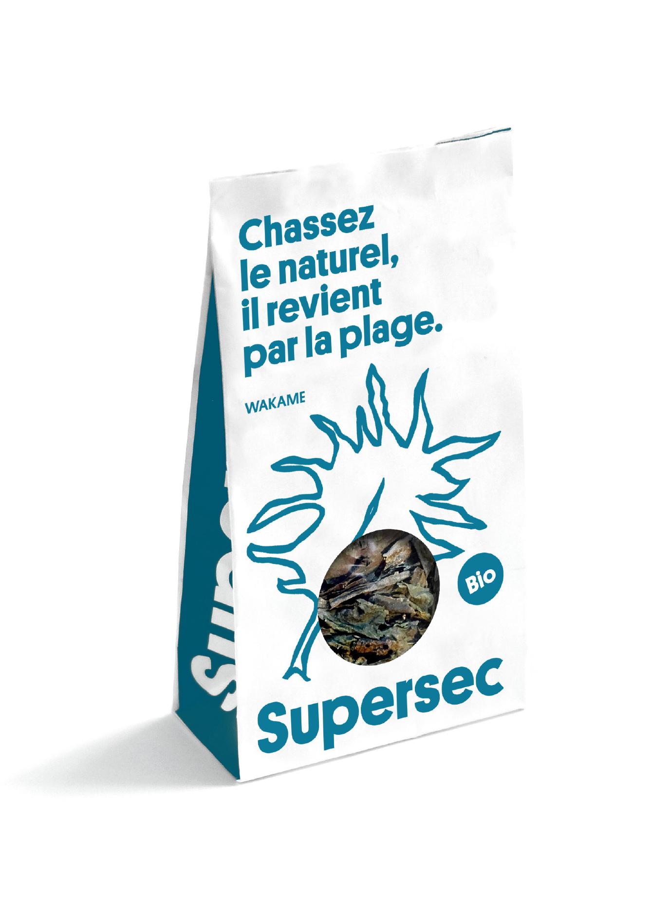 Sachet de Wakame, algues bio séchée par Supersec