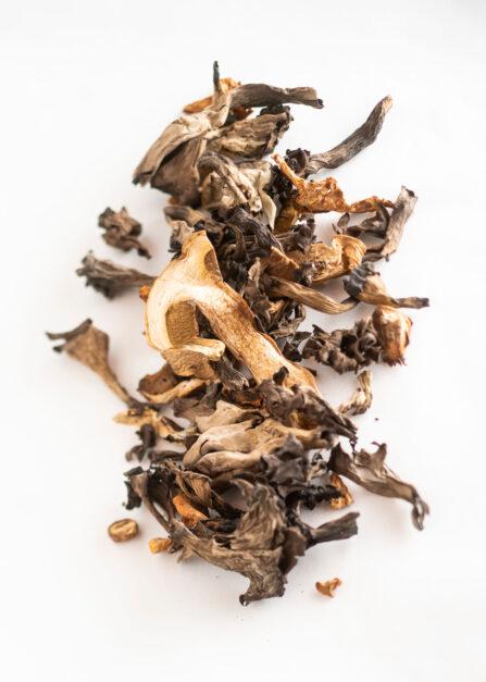 mélange de champignons sauvages séchés