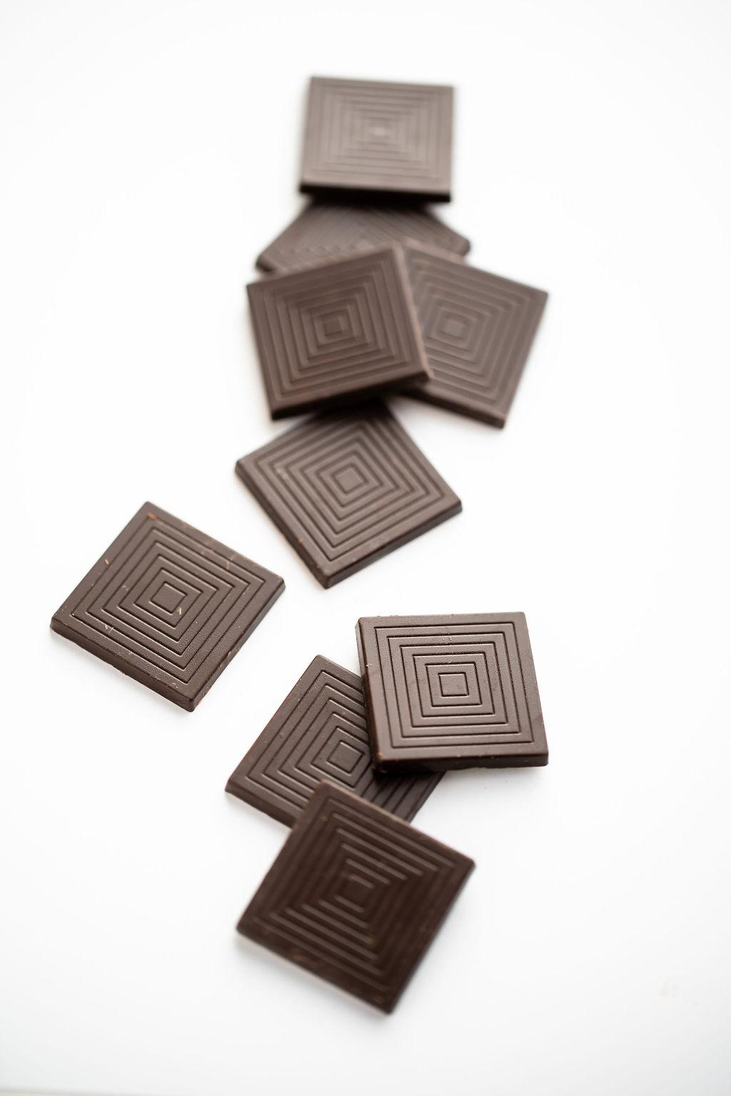 Napolitain, chocolat noir 74% bio belge par Supersec