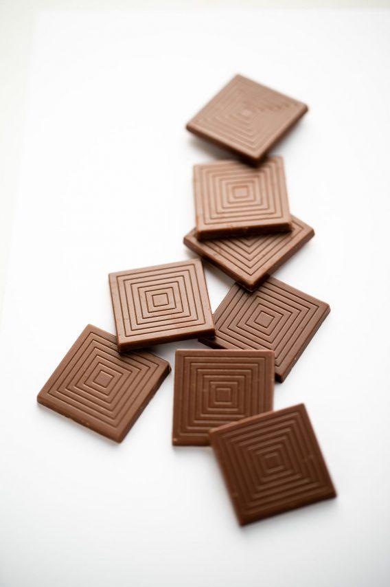 Napolitain, chocolat au lait au caramel et au beurre salé bio belge par Supersec