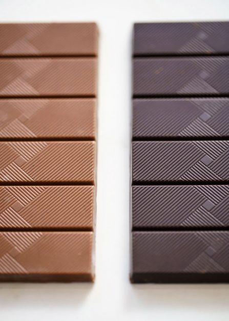 Tablettes en montagne vrac Superchoc, chocolat belge et bio de Supersec
