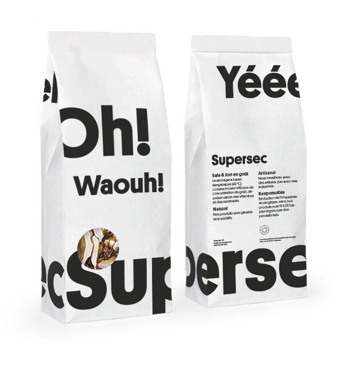 Sachet compostable de champignons dans la Superbox de Supersec