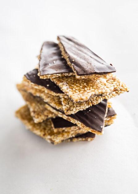 Croquants de sésame au chocolat belge Supersec bio et sans gluten