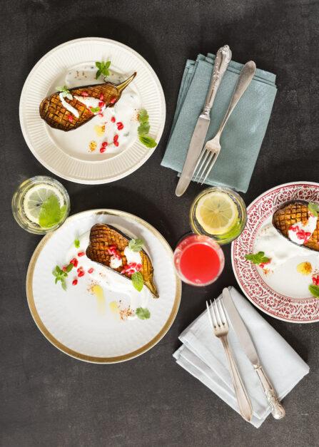 Aubergine au four - recette d'aubergines rôties aux épices de Supersec