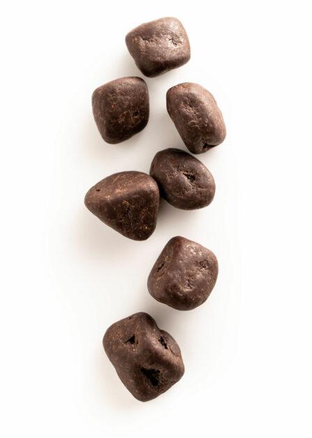 Gekonfijte gember in pure chocolade