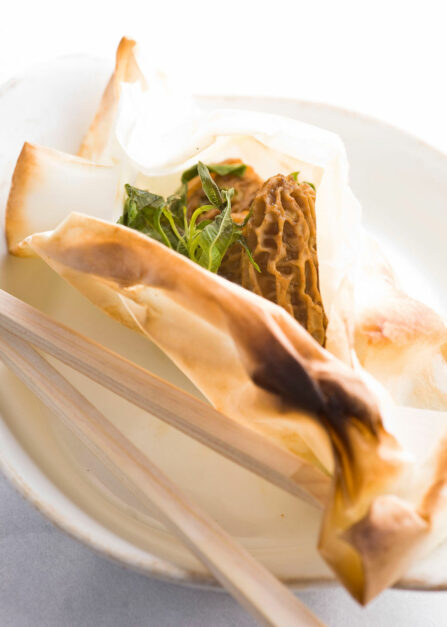 Papillotes morilles verveine recette Supersec
